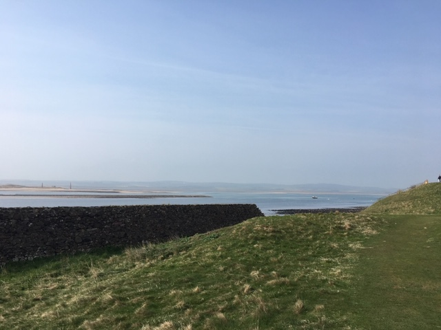 A view out to sea on Holy Island